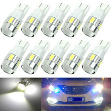 10x T10 W5W 5630 6-SMD Car Wedge Side LED Light Bulb Lamp 168 194 192 158 White