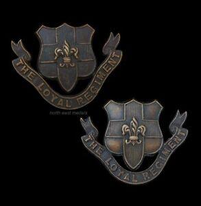 Loyal Regiment (North Lancashire) Officer's OSD Bronze Collar Badges