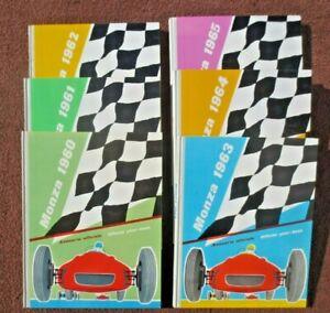 BOOK, MONZA RECORD BOOK 1960 - 1965 automobile  6 volumes GIULIETTA SPIDER