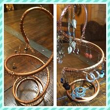 copper spiral earring holder - large