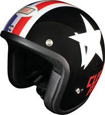 origine CASQUE JET PRIMO Cascade gr.s noir/blanc étoile 50´s Casque de scooter