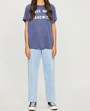 Wildfox Womens Sandwich WTJ6264B6 Top Relaxed OXFD Navy Size XS