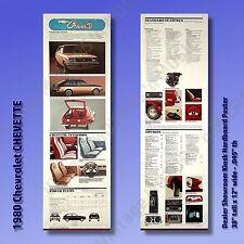 "1980 Chevrolet CHEVETTE Hardboard Auto Poster 38"" x 12"" Dealer Display Set of 2"