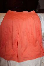 J. Crew Stitched Orange 100% cotton Skirt Sz 2 Gorgeous Lined EUC
