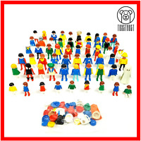 Playmobil Figure Bundle 59x Vintage Large Job Lot Geobra Mixed Set Kids Retro P1