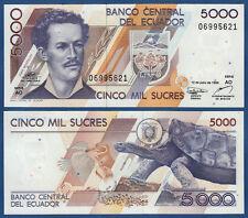 Ecuador 5000 sucre 12.7.1999 UNC p.128