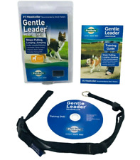 New listing Gentle Leader Head Dog Collar New In Box-Medium Black 25 To 60 Pounds Black