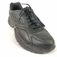 Saucony Mens Omni Walker Black Walking Shoes Size 12.5 Casual Leather