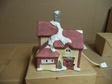 Christmas Village Drug Store Shop Lighted Building House 1994 Collection
