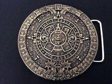 New Aztec Calender Bronze Belt Buckle
