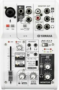 YAMAHA Webcasting Mixer Audio Interface 3 Channel AG03 Music Production