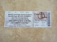 Slash Myles Kennedy Conspirators 2012 Ticket UnUsed Stub