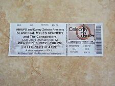 Slash Myles Kennedy Conspirators 2012 Ticket UnUsed Stub