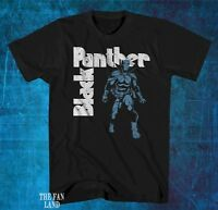 New Marvel Black Panther Cartoon Black Mens Classic Vintage  T-Shirt
