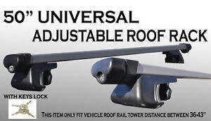 1 pair 120cm Crossbars Side Railing Aluminum Roof Rack Utility w/Locks Keys H17
