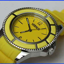 VERSACE VERSUS Men's YELLOW / STAINLESS STEEL WATCH w/ Box, Bag & Certificate