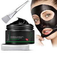 Deep Cleansing Blackhead Remover Peel Off Bamboo Charcoal Facial Mask Brush Raki