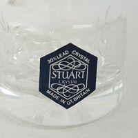 Vintage 1980s Stuart Crystal Lead Glass Perfume Bottle and Stopper