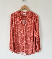 COTSWOLD COLLECTIONS POPPY BUTTON DOWN BLOUSE TOP SIZE 16