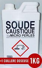 ⭐ 1KG SOUDE CAUSTIQUE MICRO PERLES HYDROXYDE DE SODIUM 99% PURE +1 Doseuse 25ml