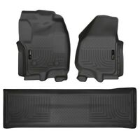 Husky Liner 99711 WeatherBeater Front/2nd Seat Floor Liner For Ford Super Duty