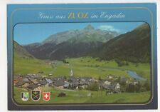 Gruss Aus Zuoz im Engadin 1988 Postcard Switzerland 598a