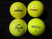 "20 MIXED MAKES AND MODELS  ""YELLOW""  - Golf Balls -  ""PEARL/A"" Grades."