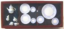Hansson dollhouse Miniature - Blue Tea Set for 2 - 05042