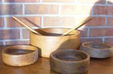 Dolphin Genuine Teak Wood Salad Bowl Set
