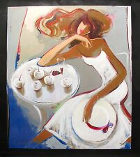 """IRENE SHERI """"SUMMER DREAMS"""" Hand Signed Limited Edition Giclee Art on Canvas"""