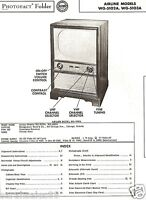 Service Manual 1955 Photofact AIRLINE WG-5102A 5103A TV Alignment Schematic Tube