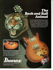 IBANEZ TIGER MAPLE GUITAR PINUP PRINT AD vtg early 80s AR-300 Rock N Roll Animal