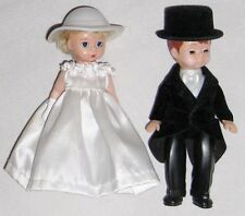 "Madame Alexander 5"" Bride & Groom in Formal Dress - Boy Girl Set of 2"