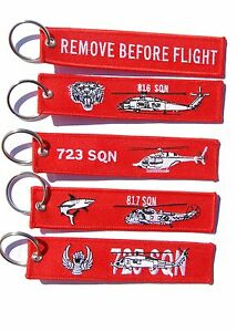 RAN Fleet Air Arm Remove Before Flight Key Ring Luggage Tag Value Pack