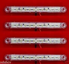 4x 24V White 12 LED Side Front Marker Lights for Truck Trailer SCANIA DAF MAN