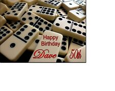 PERSONALISED DOMINOES BIRTHDAY CARD A5 ANY NAME AGE GREETING OCCASION