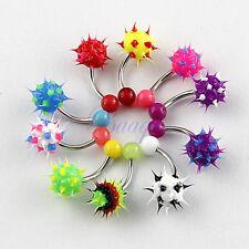 10pcs Lot 14 gauge UV Silicon Ball Soft Spike Navel Rings Body Jewelry JW711 DG