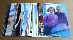 MULTI-LIST SELECTION OF SIRDAR KIDS, LADIES KNITTING PATTERNS