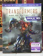TRANSFORMERS AGE OF EXTINCTION  IMAX 3D -- BLU-RAY LENTICULAR SLIPCASE + DIGITAL