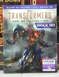 TRANSFORMERS AGE OF EXTINCTION  IMAX 3D -- BLU-RAY LENTICULAR SLIPCOVER +DIGITAL
