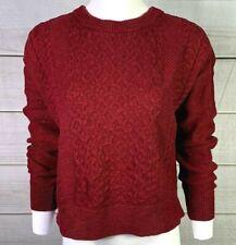 Mossimo Women's Sweater Chunky Knit Long Sleeve Burgundy Size Medium EUC A4820