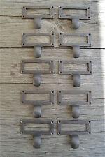 Lot de 10 Edwardian Style Fonte Armoire Tiroir Traction Porte-étiquette ZQ3