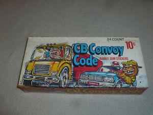 VINTAGE EMPTY DONRUSS CB CONVOY CODE STICKER CARD WAX BOX 10c 1978 RARE TRUCKER