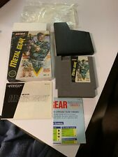 Nintendo Nes Game Metal Gear Complete In Box CIB