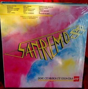 SANREMO 88 LP 1988 MINT- New Order Alan Sorrenti Matia Bazar Paul Anka Giorgia