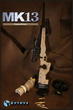1/6 Scale ZY Toys MK13 Sniper Rifle Weapon Accessory Model Fit for 12inch figure