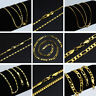 """16-30"""" Women Men 18K Gold Plated Rope Chain Necklace Charming Jewelry Best Gift"""