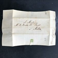 1846 Malta Entire Letter Pre Adhesive Postal History Dated Postal Tariff 4JAN 1d