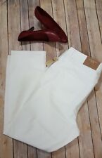 WOMEN'S COLDWATER CREEK WHITE  DENIM JEANS SIZE 20 CLASSIC FIT SLIM LEG NEW