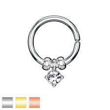 Pair CZ Ear Piercing Tragus Rook Snug Helix Daith Nose Annealed Rings